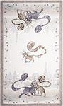 Кухонный текстиль  Santalino  ``Котики``, 40х70см, 100% хлопок,твил, белый, 850-715-6