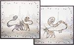 Кухонный текстиль  Santalino  из 2-х шт. ``Котики``, 100% хлопок, твил, белый, 850-715-8