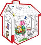 Сюжетно-ролевая игра  Mochtoys  Игровой картонный домик -расскраска, 10721
