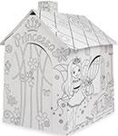 Сюжетно-ролевая игра  Mochtoys  Игровой картонный домик расскраска - принцесса, 11122