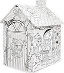 Сюжетно-ролевая игра  Mochtoys  Игровой картонный домик расскраска -рыцарь, 11123