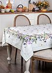 Кухонный текстиль  Santalino  ``Ботаника`` 180х140 см, 100% хлопок, белый, 850-702-2