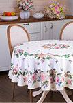 Кухонный текстиль  Santalino  круглая ``Винтаж``, белая, 850-714-23