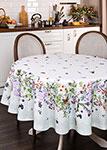 Кухонный текстиль  Santalino  круглая ``Ботаника`` диаметр 180 см, белый, 850-702-23