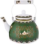 Чайник  Agness  эмалированный ``сура``, 2,5 л, цвет зеленый, 934-329