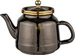 Чайник  Agness  эмалированный, Тюдор 1,0 л, чёрный металлик, 950-263