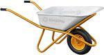 Тачка садовая  Вихрь  Т 90-1 серебристо-желтая