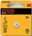 Батарейка, аккумулятор и зарядное устройство  KODAK  CR1025-1BL