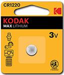 Батарейка, аккумулятор и зарядное устройство  KODAK  CR1220-1BL