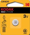 Батарейка, аккумулятор и зарядное устройство  KODAK  CR1620-1BL