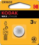 Батарейка, аккумулятор и зарядное устройство  KODAK  CR1632-1BL