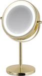 Зеркало косметическое  Hasten  c x7 увеличением и LED подсветкой - HAS1812 (цвет-yellow gold, LED подсветка 3 уровня)