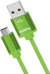 Кабель и переходник  Nobby  Practic microUSB,1 м, 2А, DT-005 зеленый 0204NB-005-001