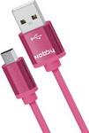 Кабель и переходник  Nobby  Practic microUSB,1 м, 2А, DT-005 розовый 0204NB-005-001