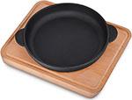 Сковорода  Brizoll  140х25 с дощечкой, ``Хорека`` (черная), Н1425-Д