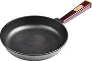 Сковорода  Brizoll  240х40 ``ОПТИМА`` с дерев.ручкой (бордо), 02440-Р2