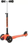 Каталка и самокат  Novatrack  Disco-kids Basic для детей, регулируемый по высоте, черно-оранжевый