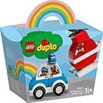 Конструктор  Lego  DUPLO ``Пожарный вертолет и полицейский автомобиль``