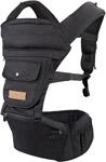 Рюкзак, слинг, сумка для переноски  Happy Baby  BABYSEAT 40029_black