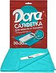 Бытовая химия и салфетка для уборки  Dora  Салфетка из микрофибры ``Для мебели и бытовой техники``