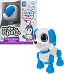 Интерактивная и развивающая игрушка  1 Toy  Игрушка интерактивная Robo Pets ``Робо-щенок`` (mini), голубой