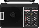 Радиоприемник и радиочасы  Ritmix  RPR-190