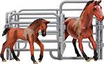 Сюжетно-ролевая игра  Masai Mara  MM204-003 серии ``Мир лошадей``. Ганноверская лошадь и жеребенок