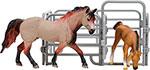 Сюжетно-ролевая игра  Masai Mara  MM204-004 серии ``Мир лошадей``. Американская лошадь и жеребенок