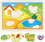Деревянная игрушка  Hape  E1601_HP Солнечная Долина 3 в 1