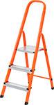Лестница и стремянка  Сибртех  97963 Стремянка, 3 ступени, стальной профиль, ступени сталь, оранжевая
