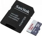 Карта памяти  Sandisk  Ultra 128ГБ MicroSDXC C10 UHS-I 100МБ/с SDадаптер (SDSQUNR-128G-GN6TA)
