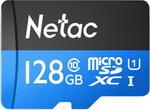 Карта памяти  Netac  P500 Standard 128ГБ microSDXC U1 up to 80MB/s NT02P500STN-128G-S
