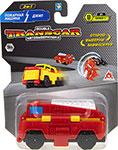Транспорт  1 Toy  Transcar Double: Пожарная машина – Джип, 8 см, блистер