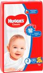 Подгузник  Huggies  Classic/Soft&Dry Дышащие 3 размер (4-9кг) 58 шт